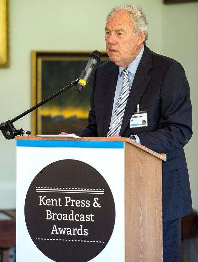 Mr Sissons was the first presenter at the Kent Press and Broadcast Awards. Picture: Maxim PR (18300872)