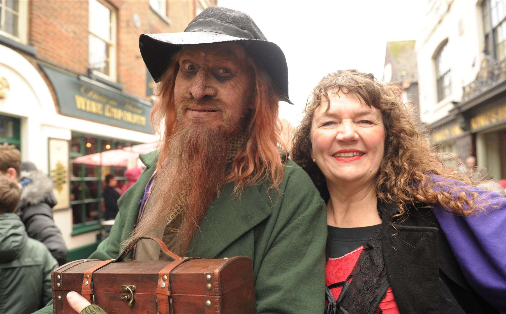 Fagin and Nancy at last year's Dickensian Christmas Festival Picture: Steve Crispe