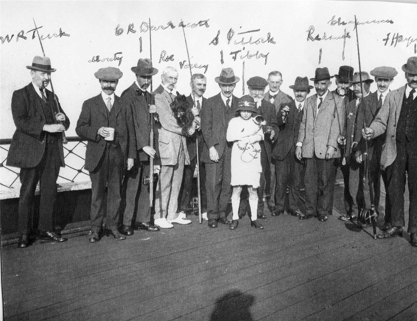 William Turk (on the left) with fellow tradesmen on Deal Pier