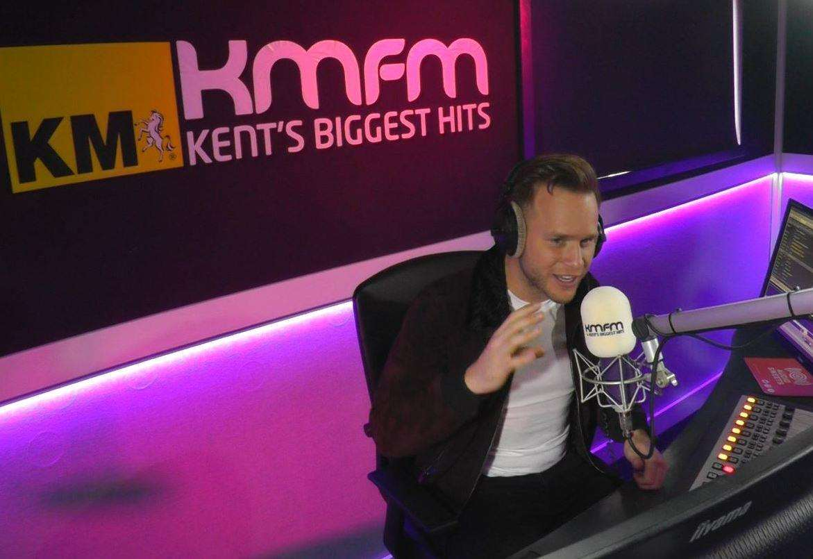 Olly Murs visited the kmfm studio in Medway