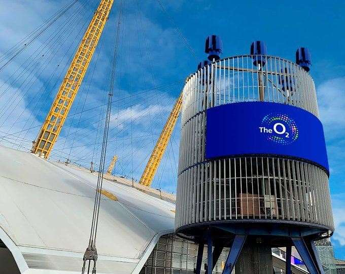 Artist's impression of the turbine at The O2
