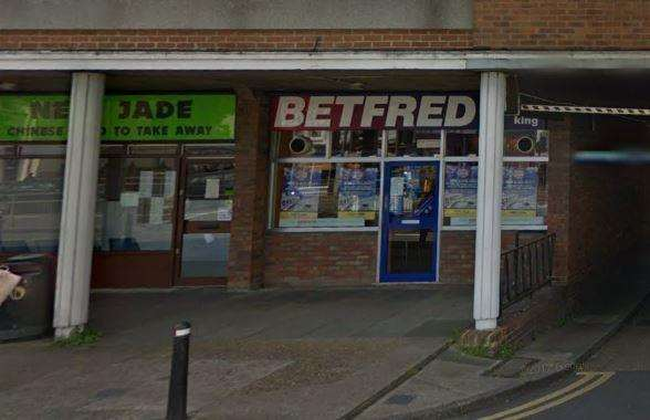 The manager of the Betfred bookies in Rainham Road, Chatham, was threatened at knifepoint (2021671)