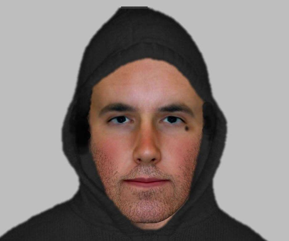 An e-fit released after a woman was robbed and punched in Stanley Avenue, Queenborough. Picture: Kent Police