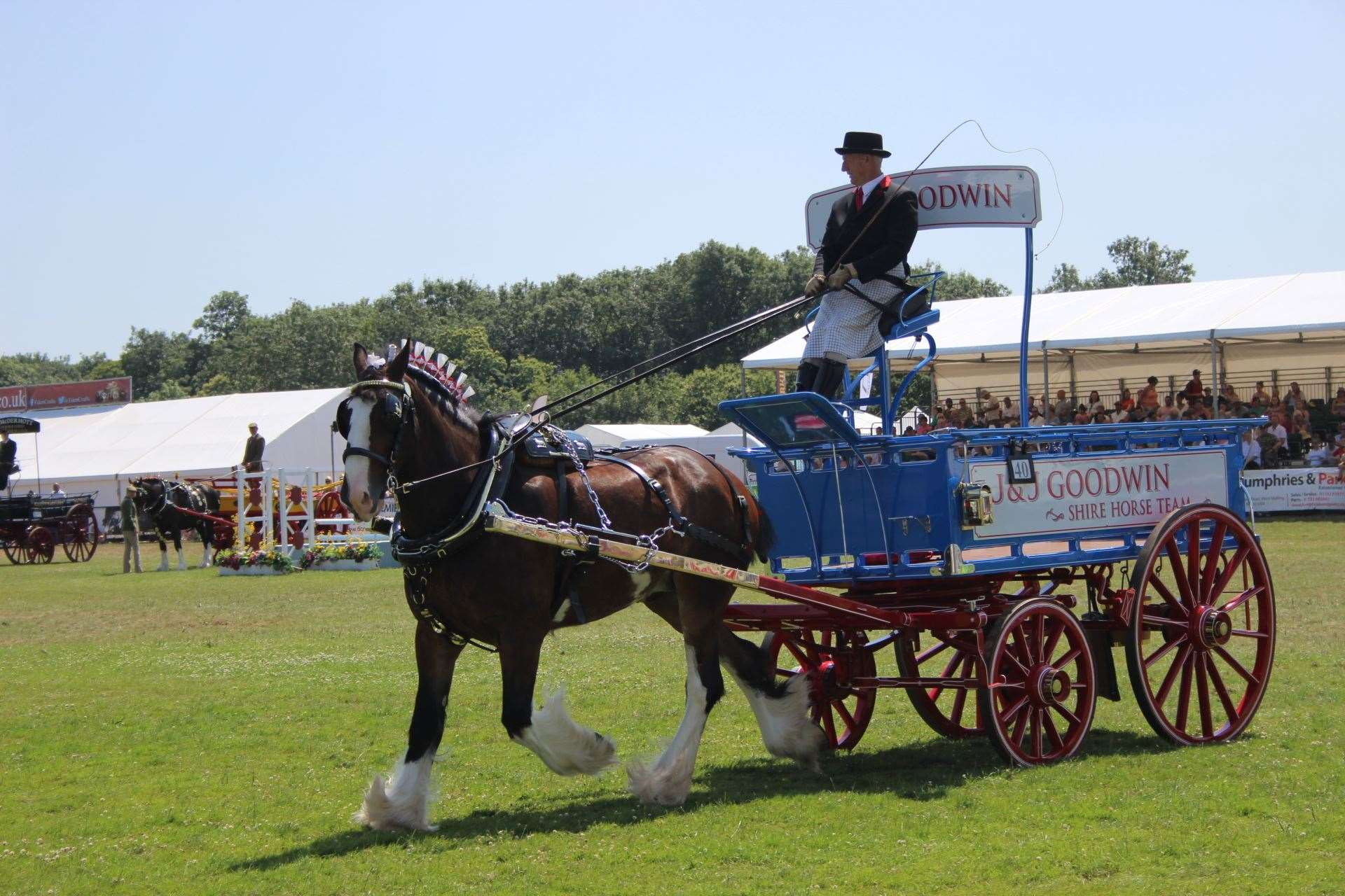 John Goodwin of Sheppey with his shire horse at the Kent County Show. File photo (13547200)
