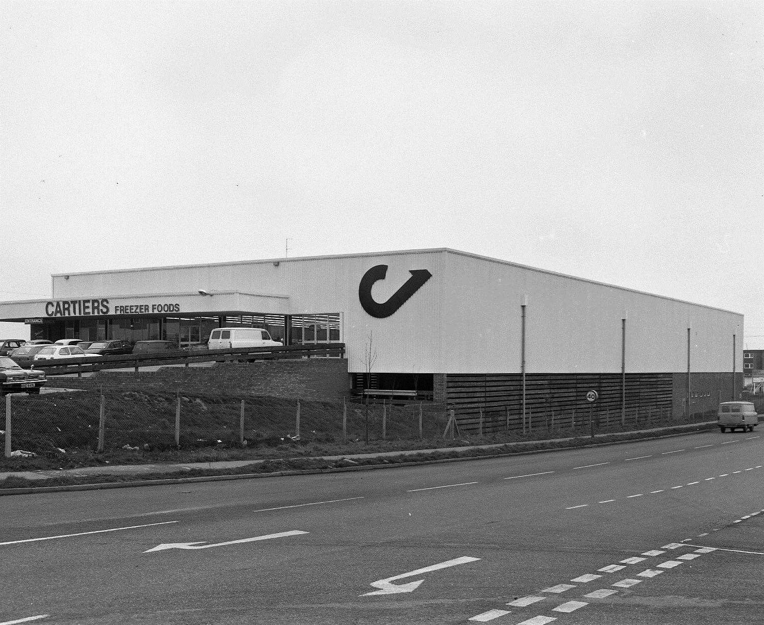 The once-familiar Cartiers store at the corner of Brookfield Road in 1976. Picture: Steve Salter