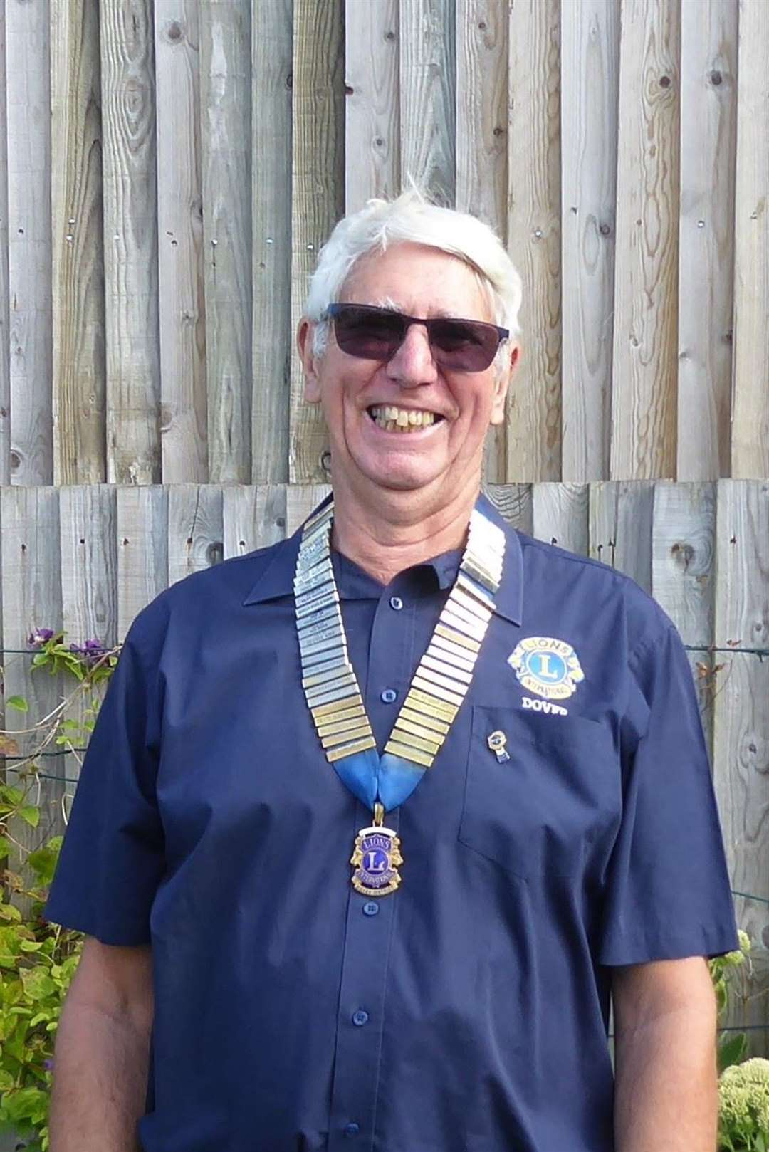 New President Len Button.  Photo: Lions Club of Dover