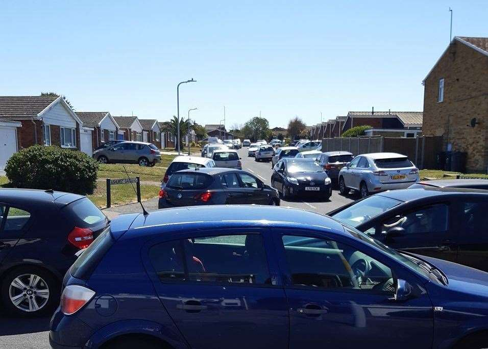 Cars parked along Knockholt Road in Thanet. Picture: Emma Wallace