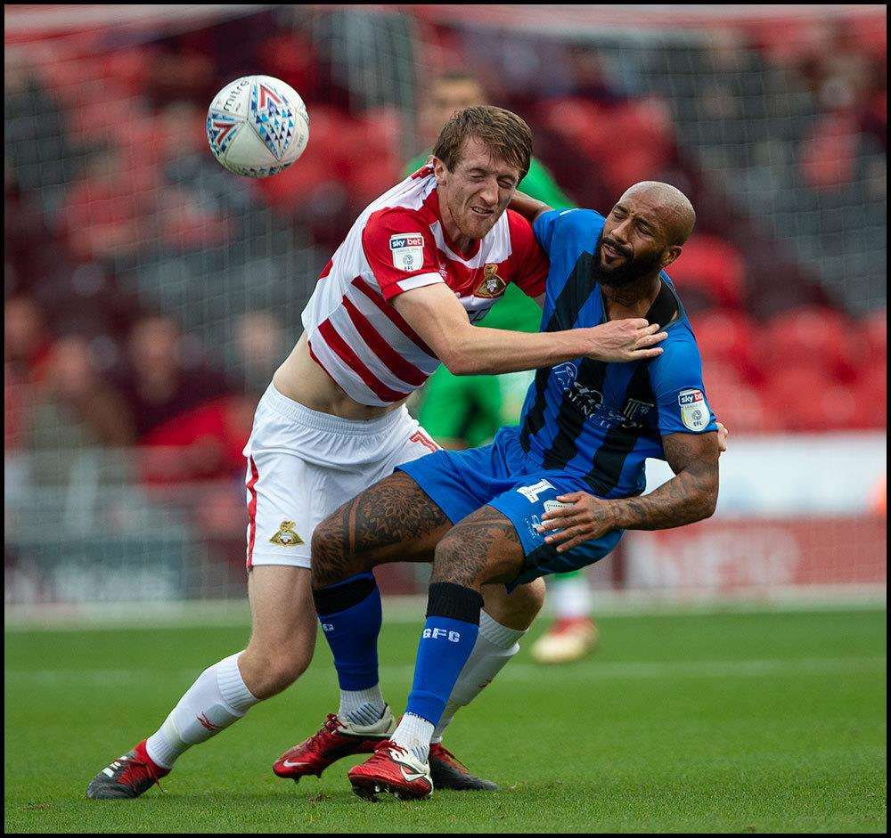 Doncaster v Gillingham match action Picture: Ady Kerry (4918337)