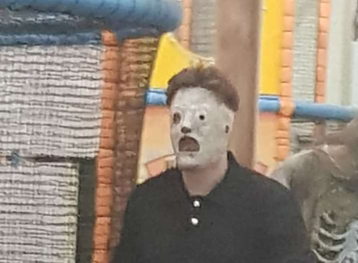 A parent said she was shocked to a member of staff wearing a Slipknot mask. Picture: Charlotte Nolan