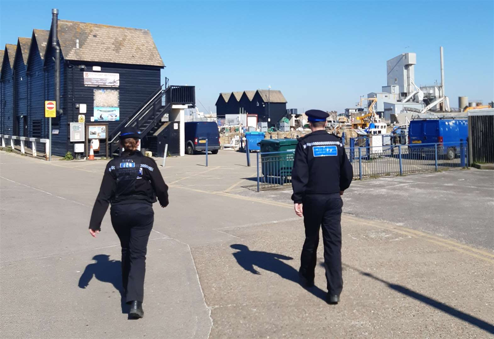 Police out on patrol in Whitstable during lockdown earlier this year
