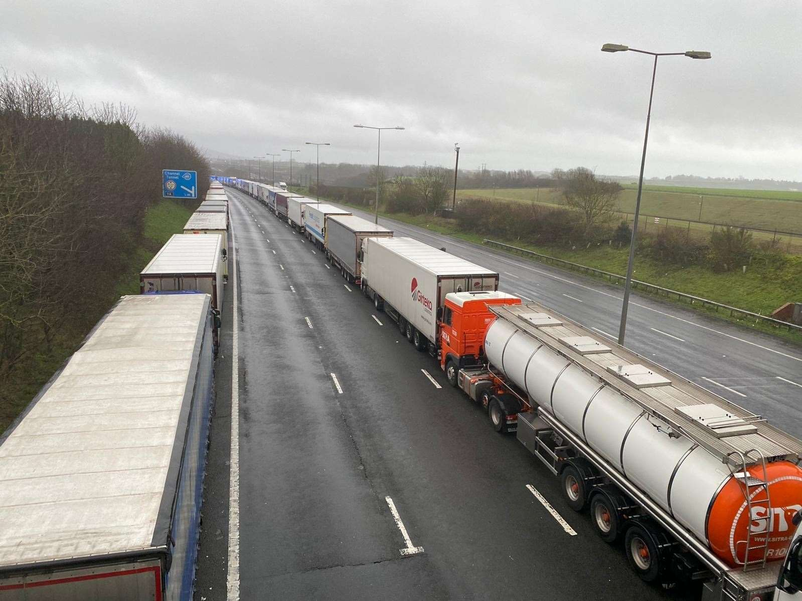 Lorries in operation Stack on the M20. Picture: Barry Goodwin (