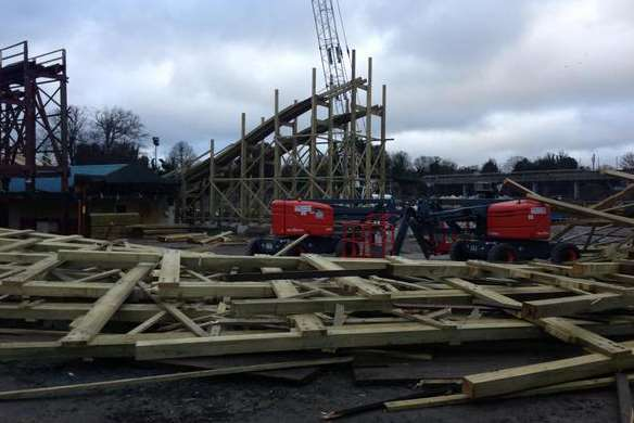 The Scenic Railway structure came down in the early hours