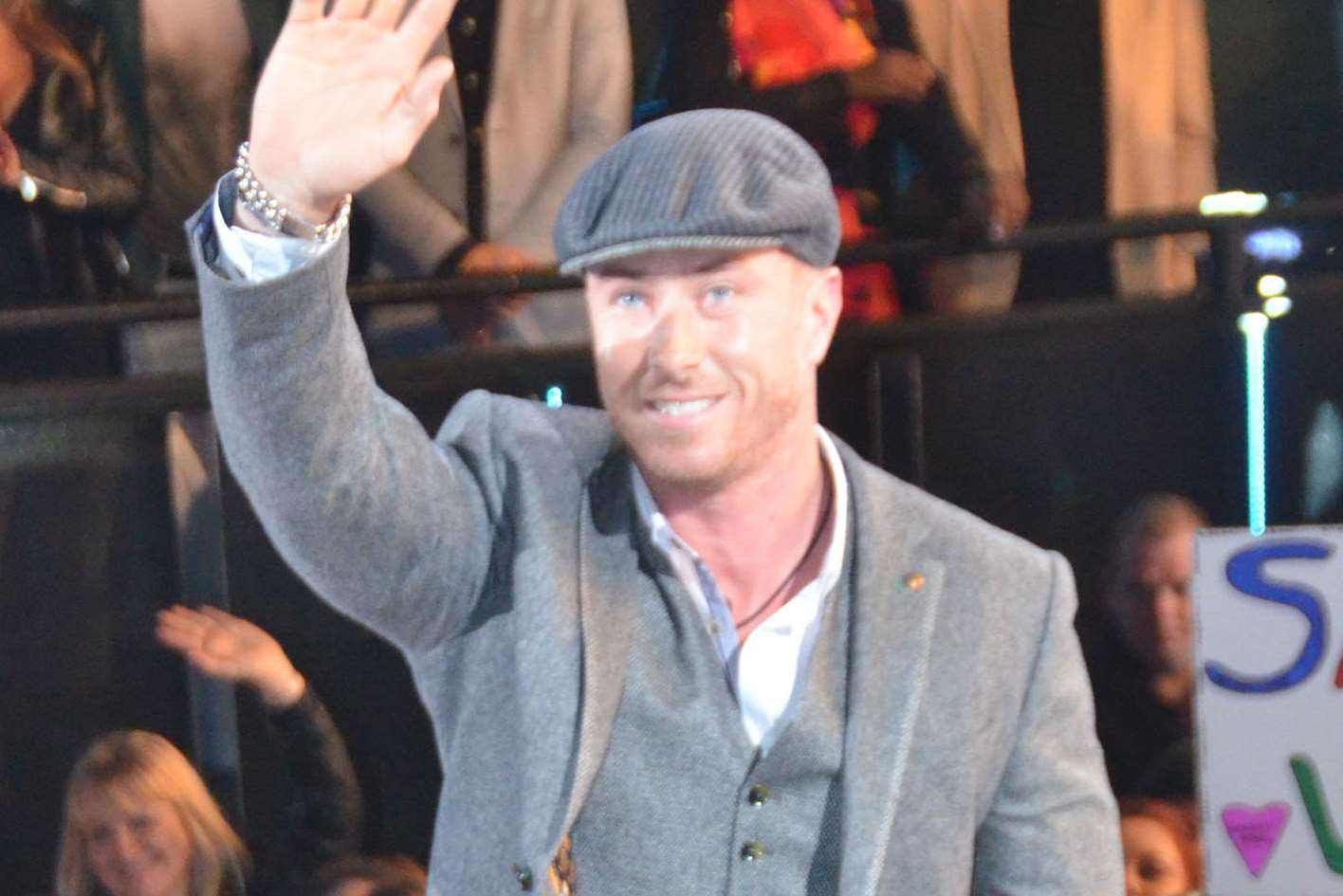James Jordan enters the Celebrity Big Brother house. Picture: Channel 5