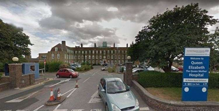 The QEQM hospital in Margate. Picture: Google