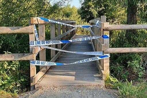 Part of Leybourne Lakes Country Park has been cordoned off Picture: UKNIP (37418291)