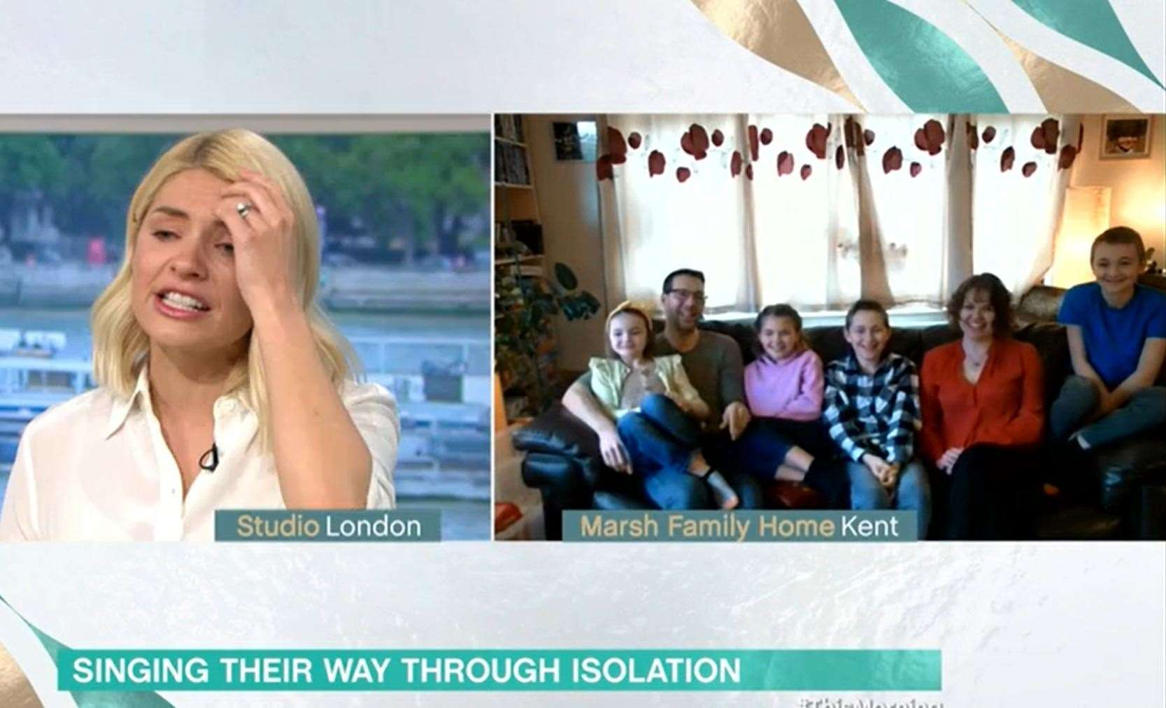 The Marsh family appear on ITV's This Morning. Picture: ITV/This Morning