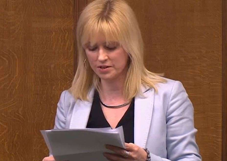 MP Rosie Duffield speaking in Parliament on Tuesday. Picture: parliamentlive.tv