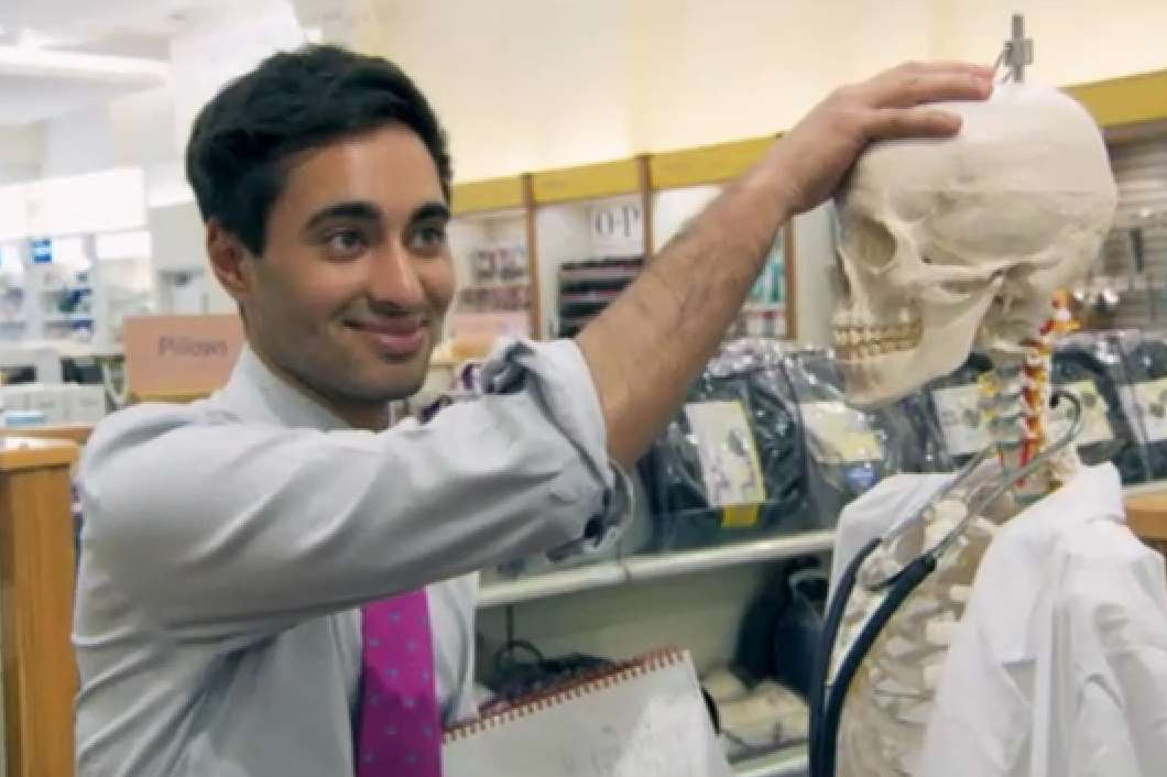 Solomon Akhtar, The Apprentice's other Kent candidate with his team's skeleton
