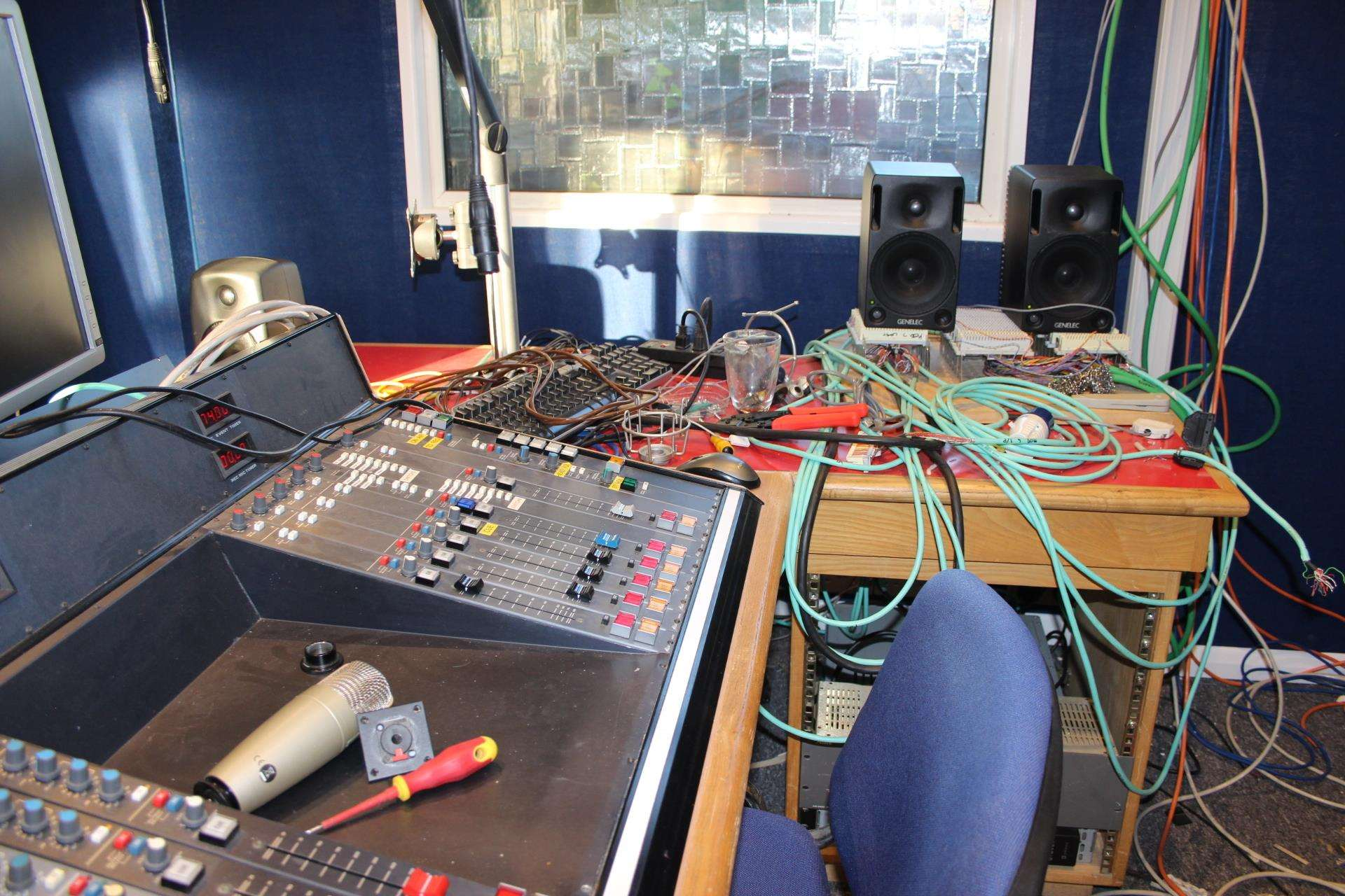 Work in progress at BRFM's new radio studio last summer