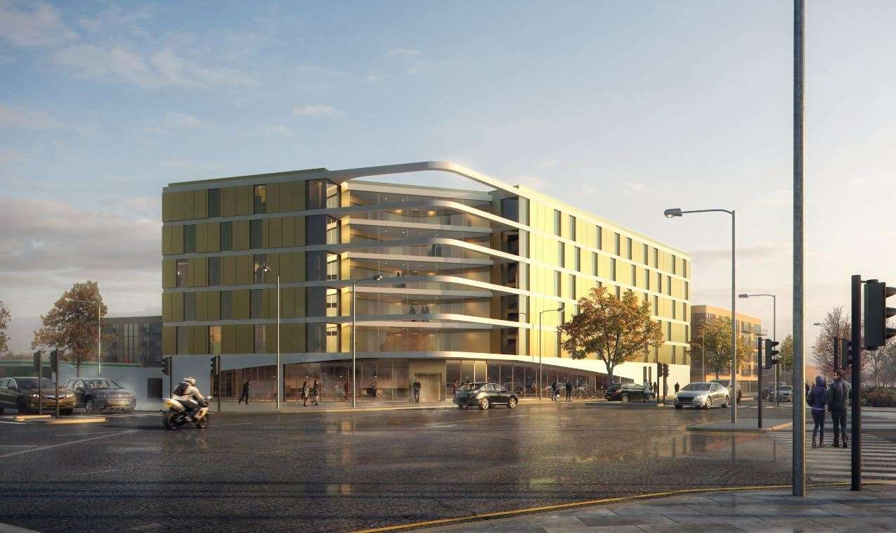 This new image released to KentOnline this week shows how the 140-bedroom hotel is set to look
