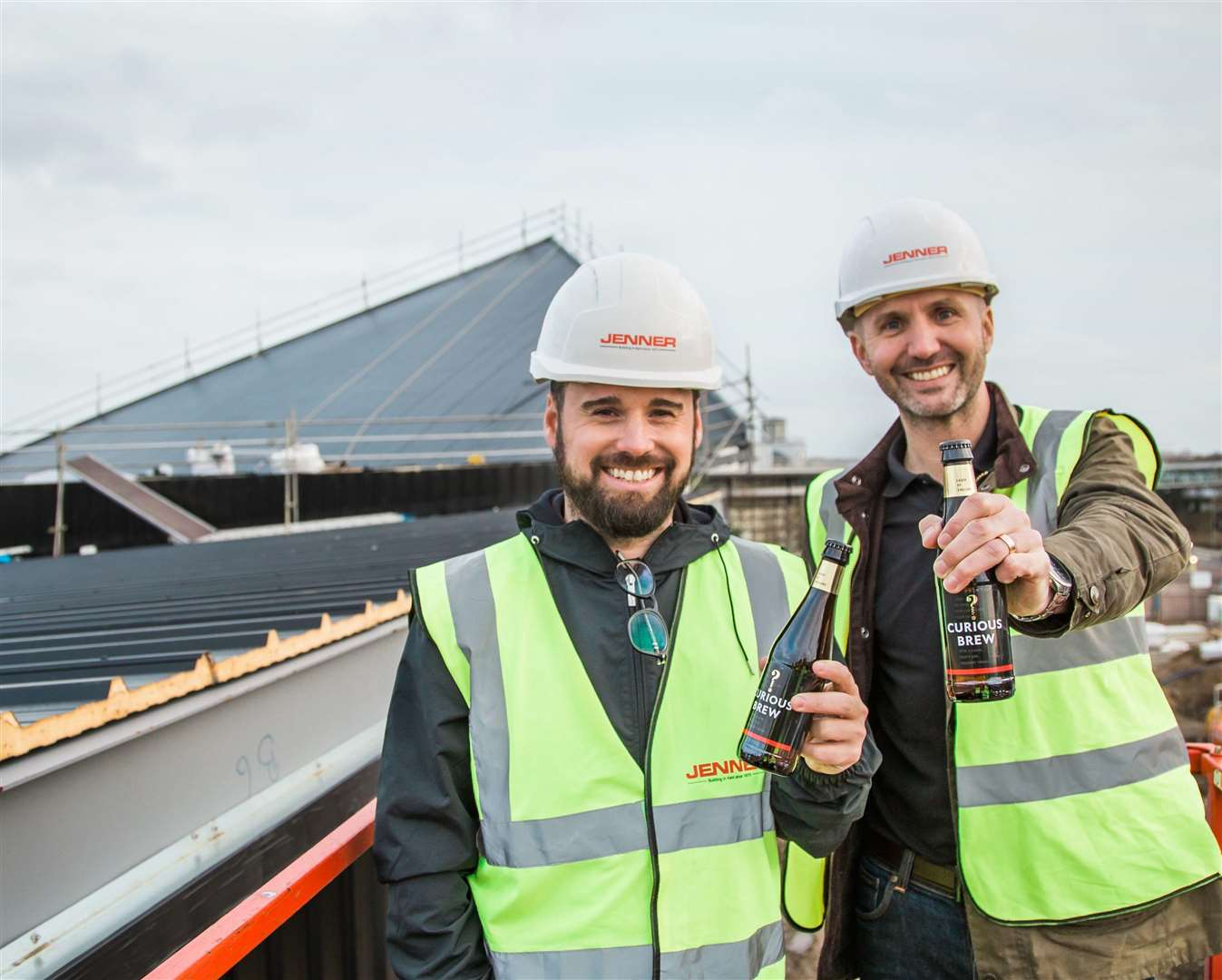 Curious Brewery's head brewer Matthew Anderson with Brewery MD Gareth Bath.