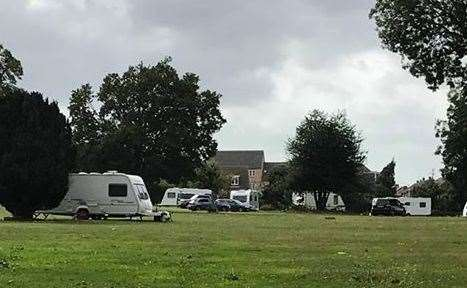 Travellers have moved onto Church Green in Gillingham
