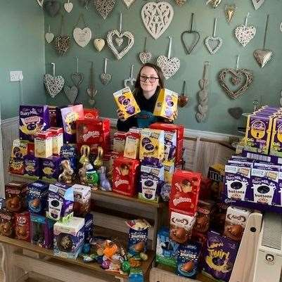 Tilly Duffy has collected Easter eggs for poorly children in hospital (32249979)