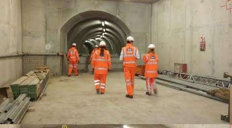 Workers have returned to the site of the Crossrail development