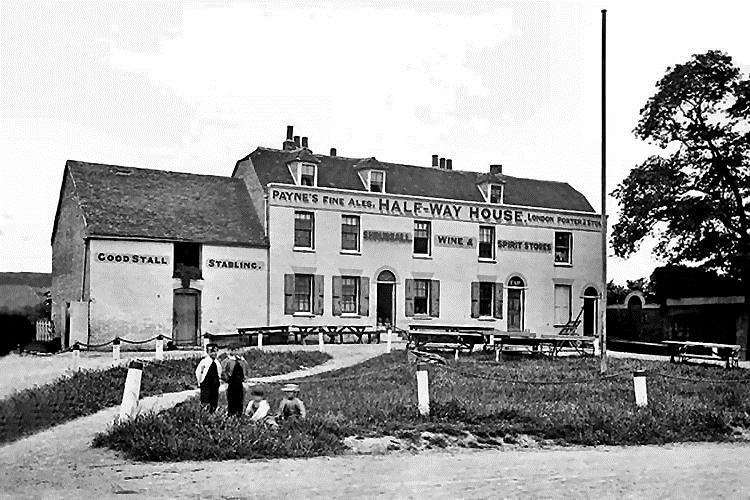 The Half-Way House pub, believed to have been on the opposite side of Queenborough Road, Halfway (5582488)