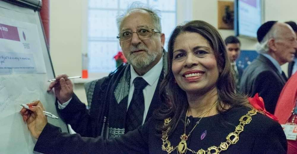 Mayor of Ramsgate, Cllr Raushan Ara with Rabbi Godfrey Fischer at a Holocaust event last year. Picture: Marie Muscat-King