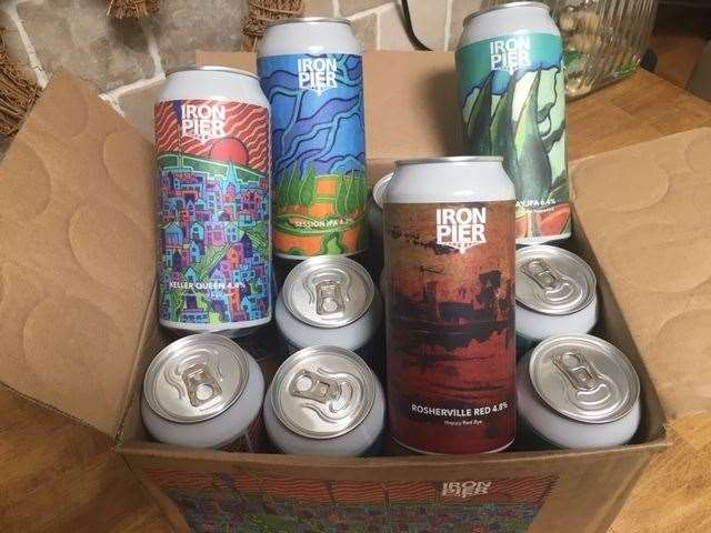 Iron Pier, a mixed 12 pack of 440ml cans costs £45