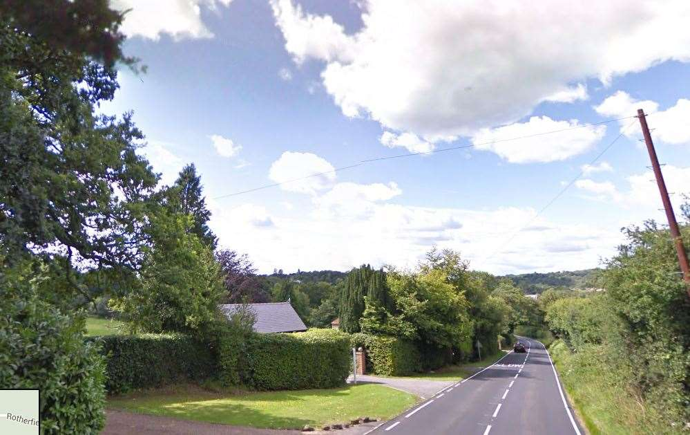 Rotherfield Road, Crowborough, near where the crash happened. Picture: Google Street View