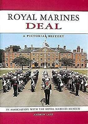 The front cover of the Royal marines Deal - A Pictorial History shows The Staff Band of the Royal Marines School of Music on Jubilee Way in South Barracks