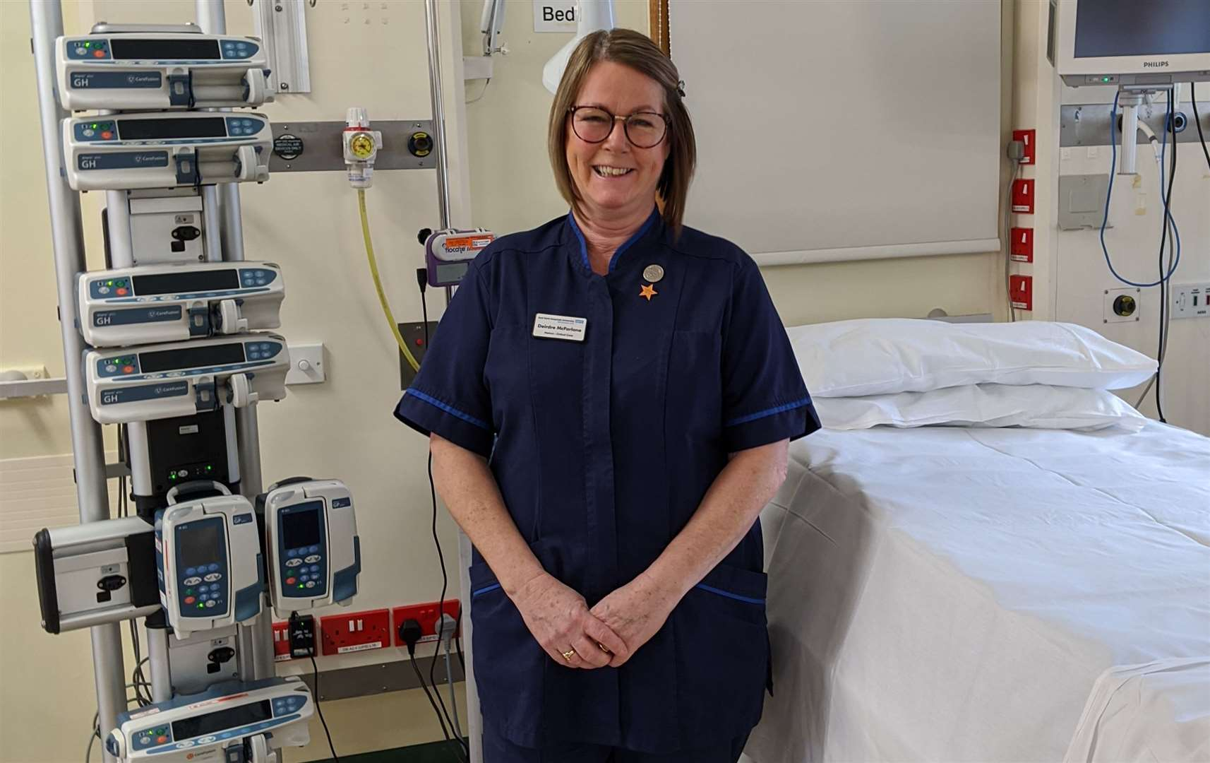 Deirdre McFarlane has worked in intensive care since 1998