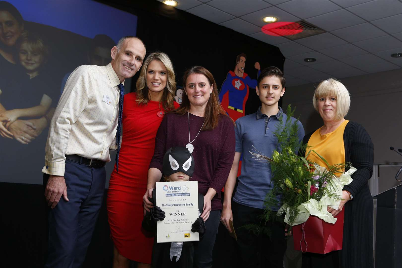 The Sharp/Hammond family won Courageous family at this year's awards.Picture: Andy Jones