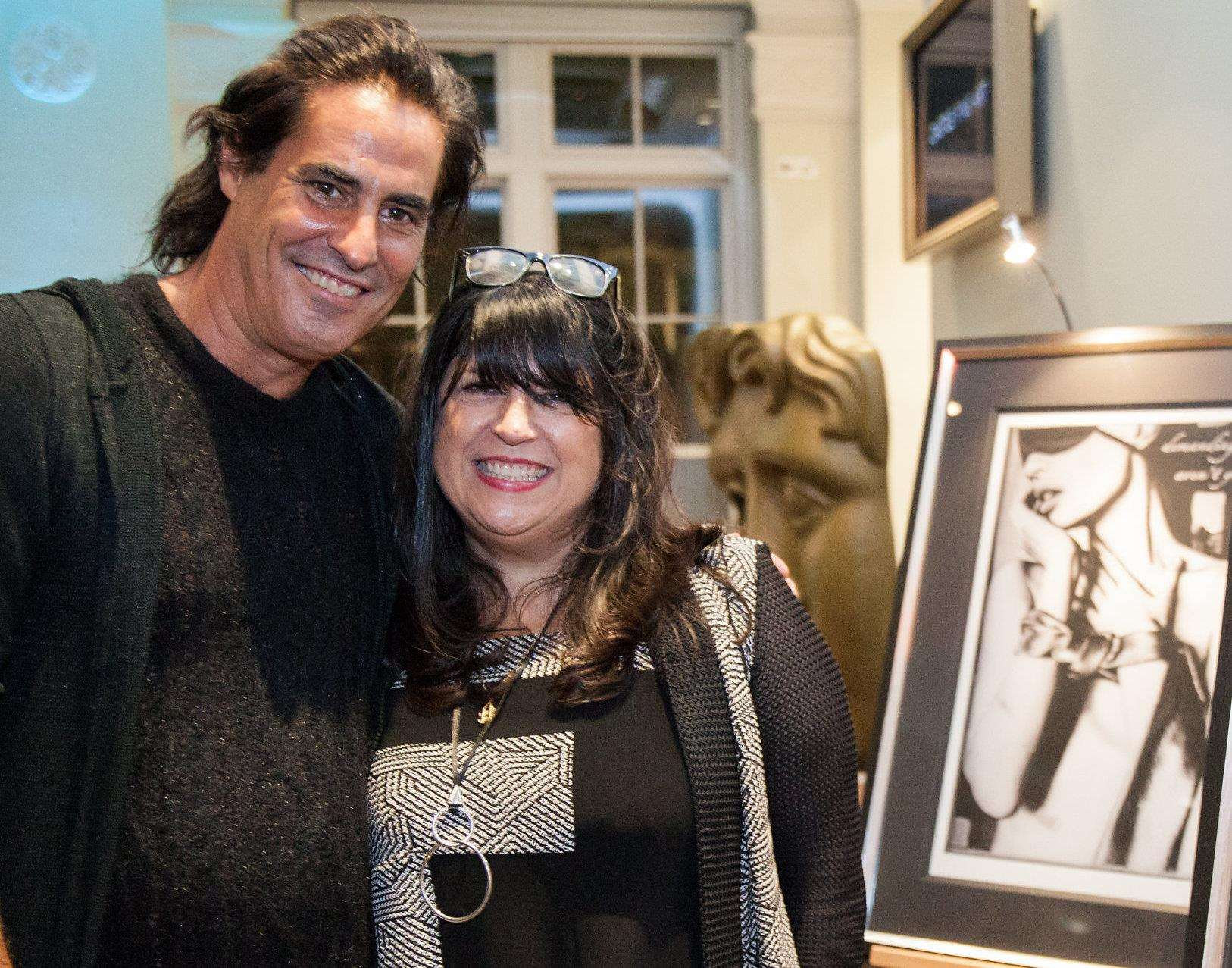 Photographer turned artist Raphael Mazzucco presents a Fifty Shades of Grey art collection at Bluewater with author E.L. James