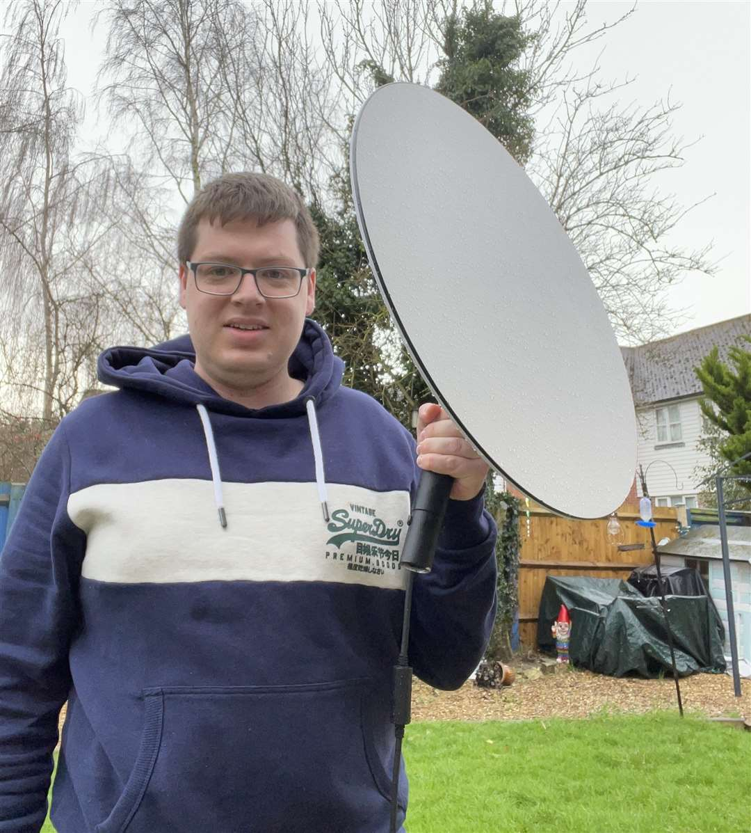 Aaron Wilkes, from Bredgar, Sittingbourne, is one of a handful of people in the UK to test out Elon Musk's new internet project