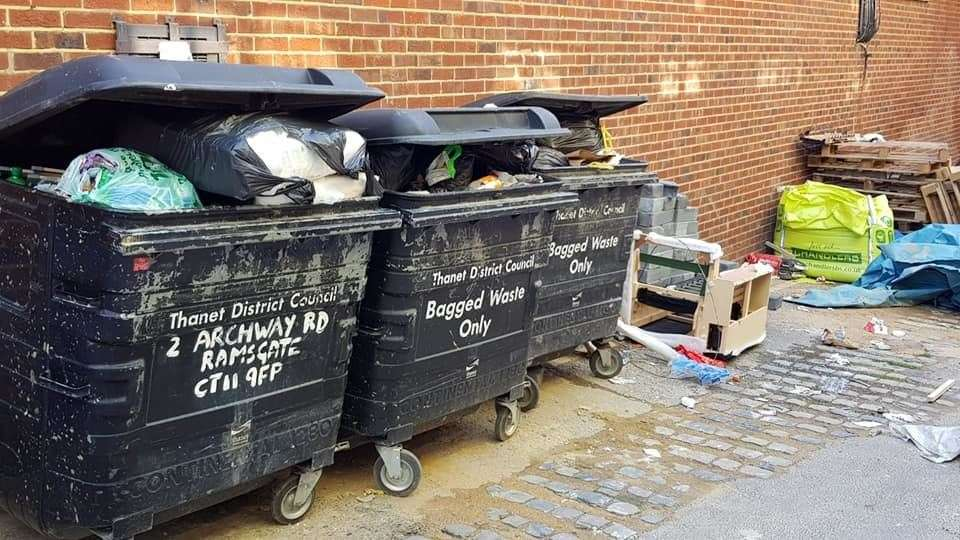 Residents are frustrated by rubbish overflowing and waste not being collected in Thanet