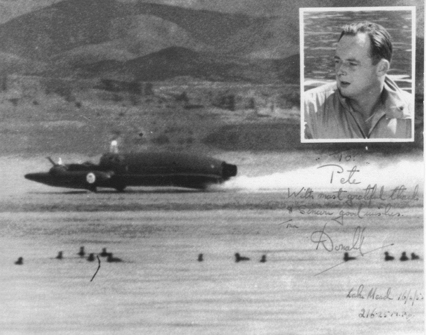 Peter Williams reported on the death of Donald Campbell, who broke the world water speed record in the boat The Bluebird