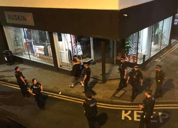 Police were called to Margate High Street to deal with the rowdy group. (15899356)