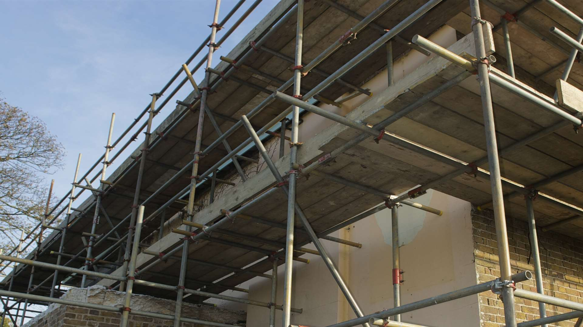 Scaffolding worth £4,000 was taken according to police. Stock picture