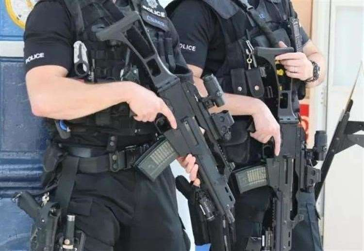 Armed police. Stock picture