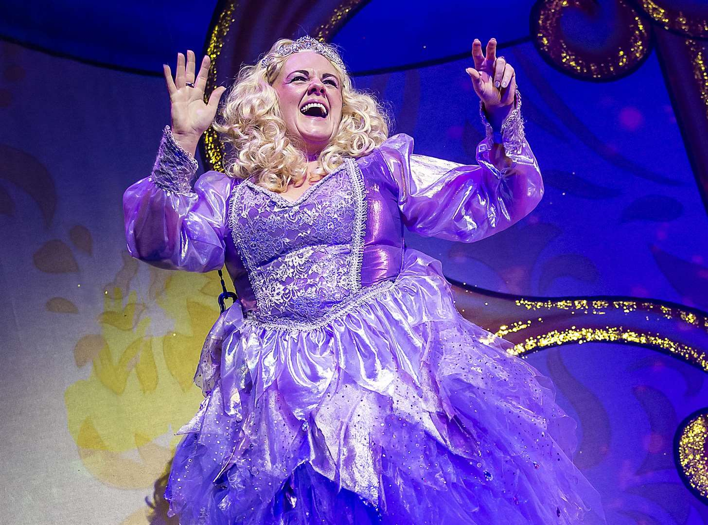 Sally Lindsay in Cinderella at the Marlowe Theatre Picture: Pamela Raith
