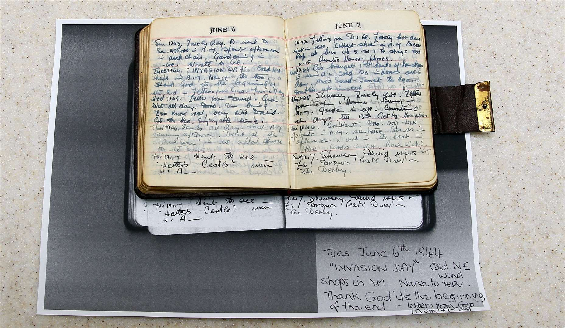 "Helen Mill of Oakwood Court Maidstone has been sharing her memories of the war, with a picture of her (right) and her twin sister Wendy as a child.Picture: Sean AidanPhoto of Helen's mum's diary which she kept during the war, she writes about ""The begining of the end..."" (10537974)"