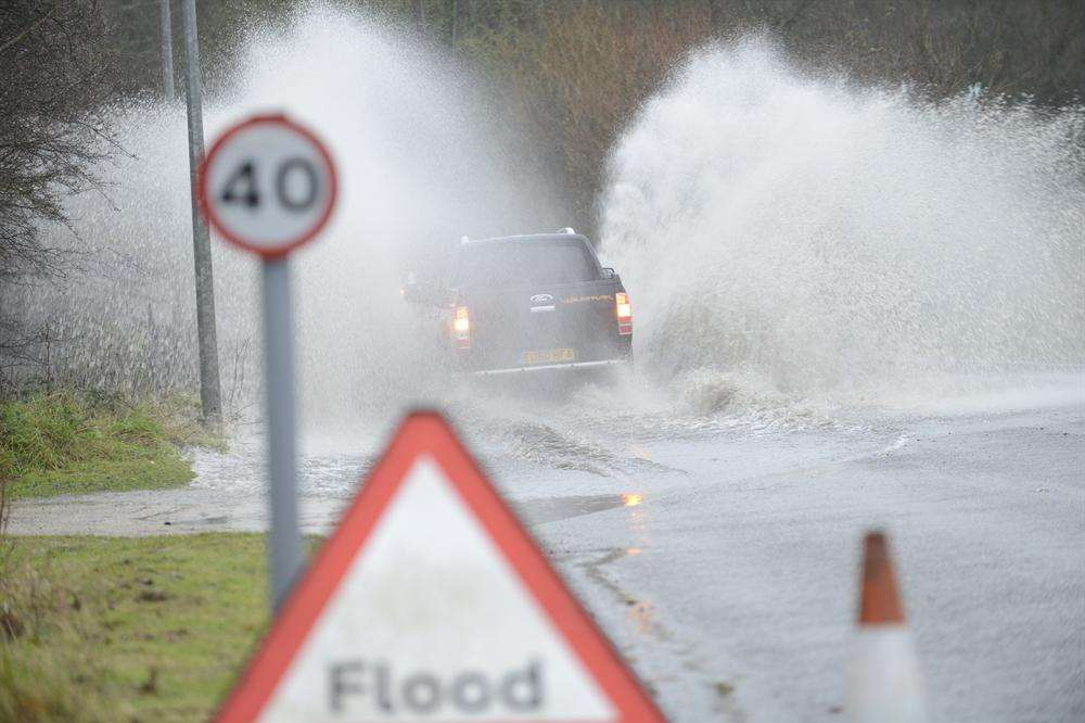 Drivers are warned of localised flooding in Kent. Picture: Library image