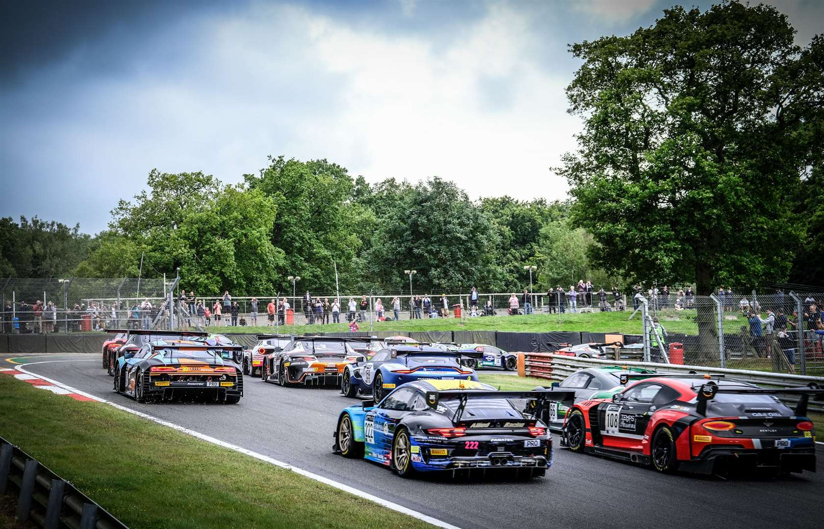 A 28-car field took to the 2.4-mile Grand Prix loop on Sunday. Picture: SRO