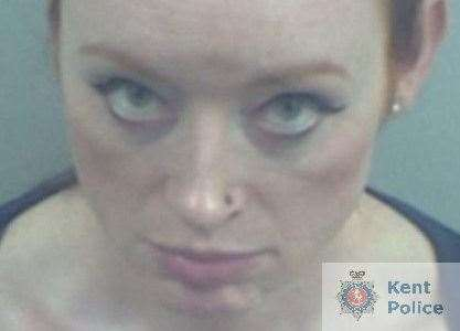 Deirdre McTucker grabbed a woman by the hair before punching her repeatedly in the face. Picture: Kent Police