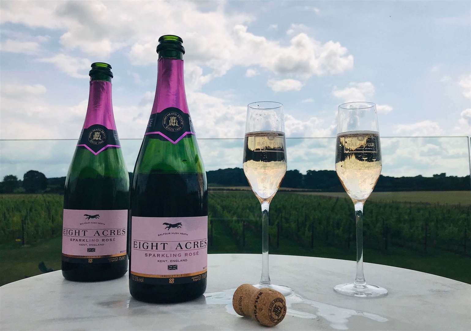 Hush Heath's Eight Acres Sparkling Rose with the Co-op