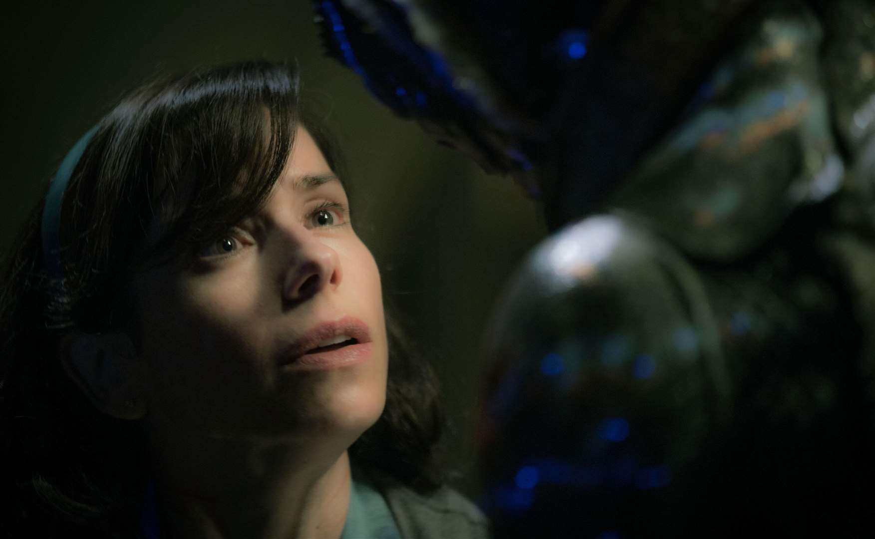 Sally Hawkins as Elisa Esposito and Doug Jones as the creature in The Shape of Water. Picture: PA Photo/Twentieth Century Fox Film Corporation/Kerry Hayes