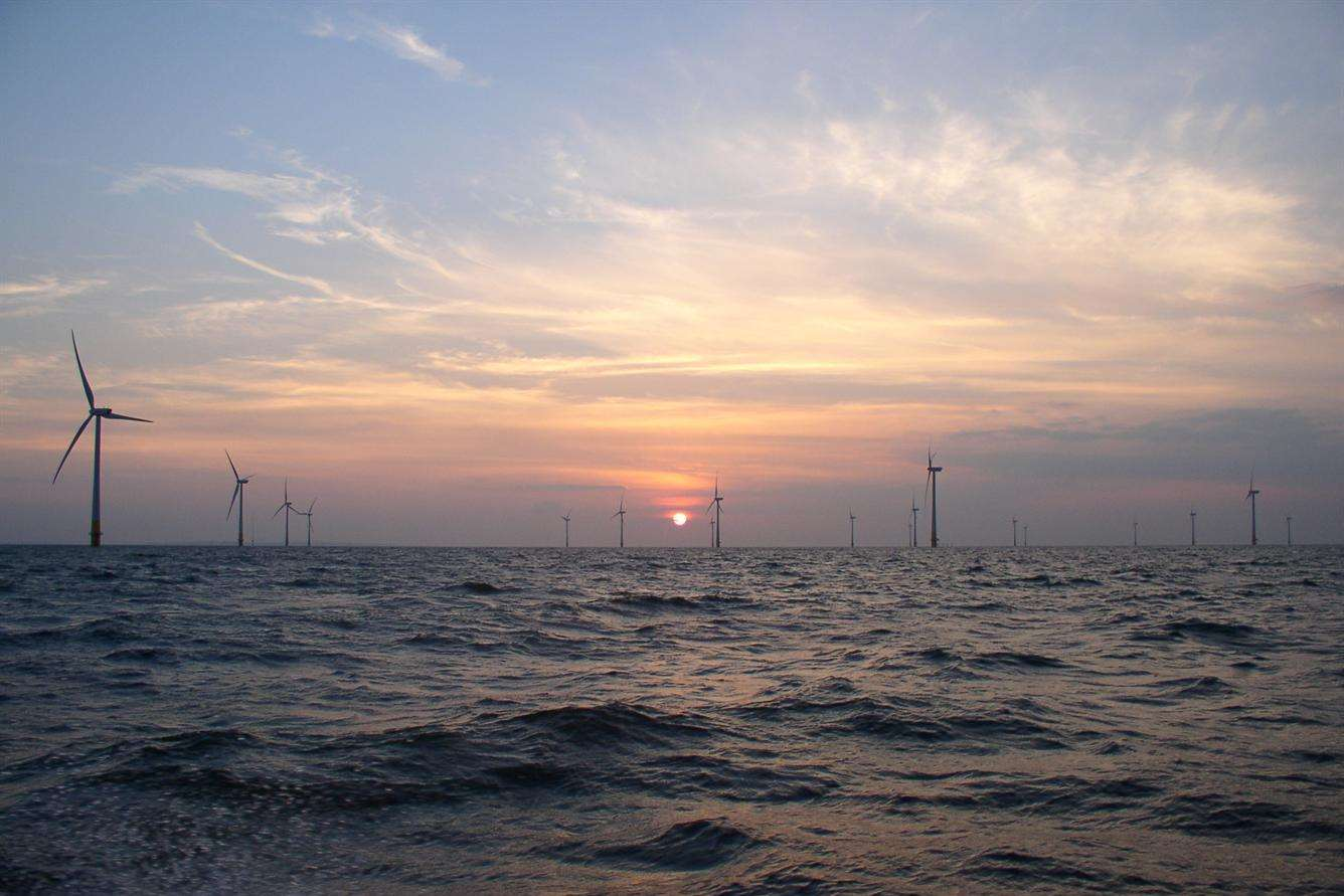 The Kentish Flats windfarm. Picture: David Parry